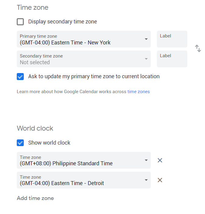 How To Display Timezones World Clock On Google Calendar Design Source Media
